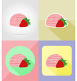 ice cream flat icons 10 vector image vector image