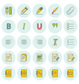 icons set For web site design and mobile apps vector image