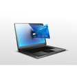 Laptop and credit card vector image vector image