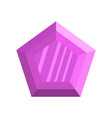 lilac diamond icon flat style vector image
