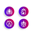 loyalty points group and user info icons set vector image vector image