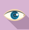 magic eye hypnosis icon flat style vector image