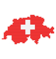 map and flag of switzerland vector image vector image