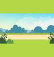 meadow nature landscape on spring vector image vector image