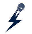 microphone in a shape of lightning mic like a vector image vector image