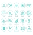 Modern line icon of senior and elderly care vector image vector image