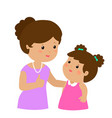mother admire daughter character cartoon vector image vector image