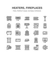 oil heater fireplace con panel column vector image vector image