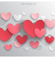 paper hearts1 vector image vector image
