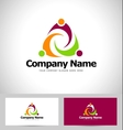 People Abstract Logo vector image vector image
