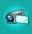 portable hand-held video camera vector image