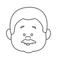 profile man face character person head cartoon vector image vector image