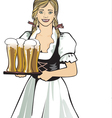 pub waitress beer festival vector image vector image
