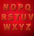 retro vintage font vector image vector image