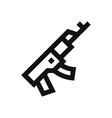 rifle icon gunweapon symbol vector image