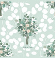roses and eucalyptus leaves seamless pattern vector image