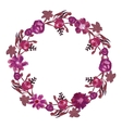 Round floral frame vector image vector image