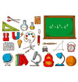 school and education supplies sketches vector image vector image