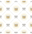 seamless background with crown and keys vector image vector image
