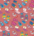 seamless shoes vector image vector image