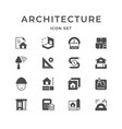 set icons of architectural vector image vector image