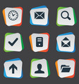 Set of simple apps icons