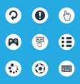 set of simple leisure icons vector image vector image