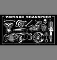 set of vintage transportation vector image vector image