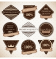 set premium quality best choice and guaranteed vector image