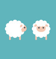 set sheep icon in side and front vector image vector image
