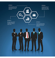 Silhouettes of Business man vector image vector image