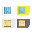 sim cards for mobile phones isolated on white vector image vector image