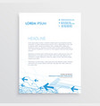 simple arrow letterhead template design vector image vector image