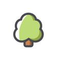 simple tree symbol icon cartoon vector image