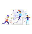teamwork on finding new ideas human resources vector image vector image