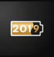 the new year black background vector image vector image