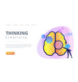 thinking and creativity concept landing page vector image