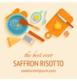 Traditional italian cuisine recipe of saffron vector image