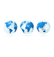 transparent world globe maps planet earth green vector image vector image