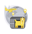 transport animals abstract concept vector image vector image