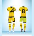 uniform football design template vector image vector image