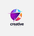 vibrant creative star logo design vector image vector image