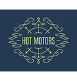 Vintage motorcycle labels badges or design vector image
