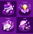 web traffic concept icons set vector image vector image