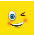 winking square emoji vector image vector image