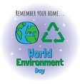 world environment day concept design for banner vector image vector image