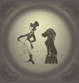 Young woman perform tamer stunt Flappers vector image vector image