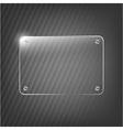 Glass Framework On Black Background vector image