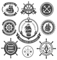Nautical Set 4 vector image