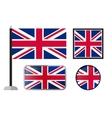 British flag icons vector image